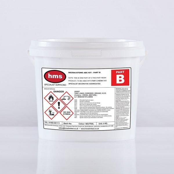 Small Resin Bonded Trade Kit Without Aggregate - Part B