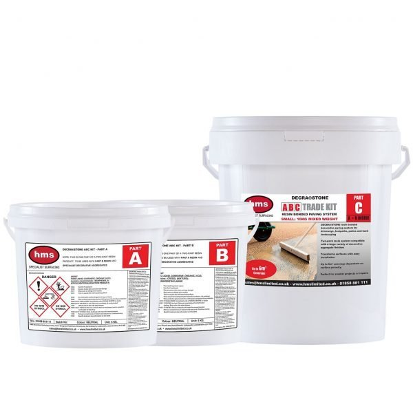 Small Resin Bonded Trade Kit Without Aggregate
